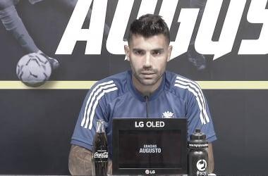 Augusto Fernández durante la rueda de prensa | Cádiz CF