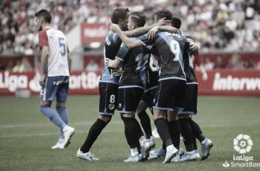 Los jugadores del Rayo Vallecano celebrando el gol | Imagen: www.laliga.es