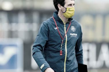 Unai Emery en uno de los entrenamientos previos al Villarreal - Betis. | Imagen: @VillarrealCF