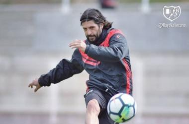 Chori Dominguez en un entrenamiento. Foto: Rayo Vallecano S.A.D.