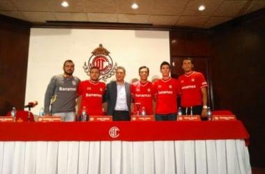 Liborio, Amione, Lobos, Bueno y Pérez | (Foto: Deportivo Toluca)