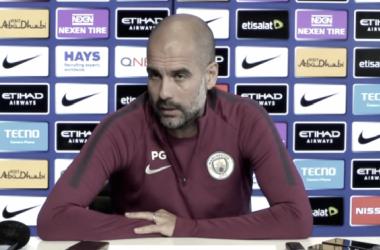 """Pep Guardiola: """"Es una locura afirmar que en enero podamos ganar la liga"""""""