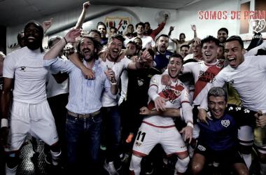 Celebración del equipo. Foto: Rayo Vallecano S.A.D.