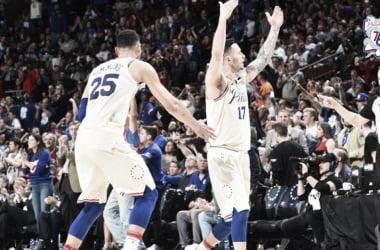 Otro gran partido de JJ Redick sirvió para llevar a los 76ers una ronda más lejos.  Foto: NBA.com/sixers