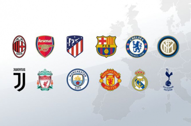 The 12 teams to form the proposed European Super League