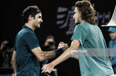 Saludo entre ambos tenistas. Foto: Getty Images.
