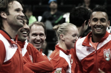The Singapore Slammers celebrate their win on Sunday. Photo: IPTL