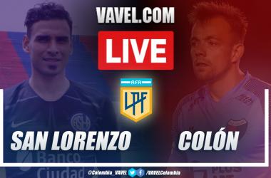 Resumen de San Lorenzo vs Colón (2-2) por la Zona Campeonato de la Copa Diego Armando Maradona