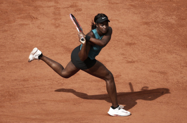 Sloane Stephens durante el encuentro de hoy ante Madison Keys. Foto: zimbio.com