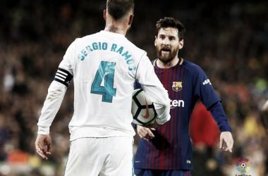 Sergio Ramos e Leo Messi. Fonte: LaLiga.es