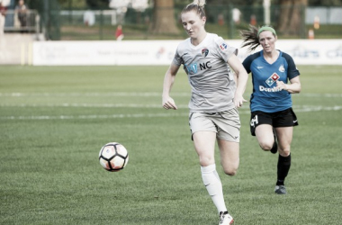 Sam Mewis put in a game-winning performance in Week 16 | Source: Amy Kontras - isiphotos.com
