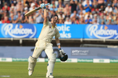Smith celebrates an emotional century (Photo: Getty Images)