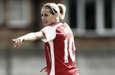 Club captain and assistant coach Kelly Smith, has won 12 trophies in three stints with the Gunners.