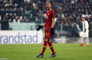 Steven Nzonzi shouting during a Serie A match against Juventus ( Source: GettyImages)
