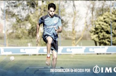 Sobrino ejercitándose al margen. / Foto: Deportivo Alavés