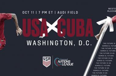 Cartel oficial del partido ante Cuba en el Audi Field | Fotografía: U.S.Soccer