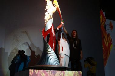 Antorcha olímpica en Sochi // Fuente: Olympics
