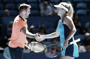 Sock and Vandeweghe enjoyed the mixed doubles after coming through in challenging singles matches.