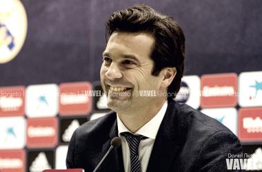 Solari, en su última rueda de prensa como entrenador del Castilla | Foto: Daniel Nieto (VAVEL)
