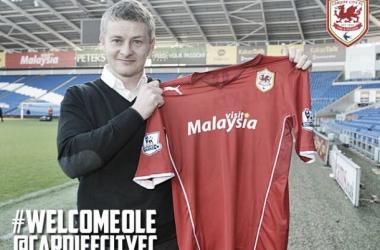 Após três anos no Molde, da Noruega, Solskjaer chega ao Cardiff City (Foto: Reprodução / Cardiff City)