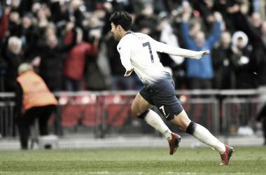 Coreano fez o dele aos 40 da segunda etapa (Reprodução / Tottenham)