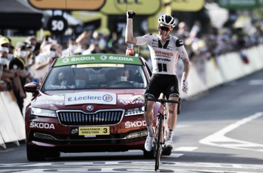 El nuevo triunfo del Team Sunweb lo convierte en el equipo, junto al Jumbo-Visma y al UAE Team Emirates, con más victorias (3) de este Tour de Francia 2020. Imagen de @TeamSunweb