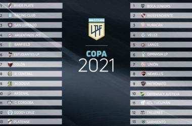 River a la zona A en la Copa de Liga Profesional Argentina 2021
