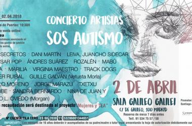 Cartel del concierto Artistas SOS autismo/ Fuente: Twitter de Santiago Alcanda (@santiagoalcanda)