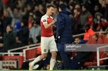 Arsenal captain Laurant Koscielny returned to action on Thursday night. Photo Credit:Gettyimages/Shaun Brooks