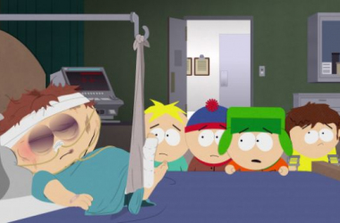 "One episode in and Cartman is already in the hospital. image source ""deadline.com"""