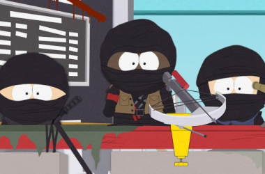 "Hmmm...They look like ninjas. Ninjas are totally g...image source ""southpark.cc.com"""