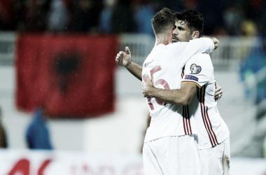 Qualificazioni Mondiali, gruppo G: Costa e Nolito superano l'Albania, Spagna in testa
