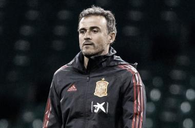 Luis Enrique quedó conforme con el desempeño de sus dirigidos en la primera jornada triple de la Clasificación Europea 2022| Fotografía: Getty Images/ DFB