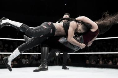 Bianca hits a Spear! Photo-WWE.com