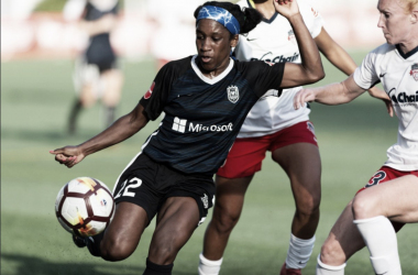 Jasmyne Spencer scored her first goal of 2018 in the 2-0 win over the Washington Spirit. | Photo: isiphotos.com