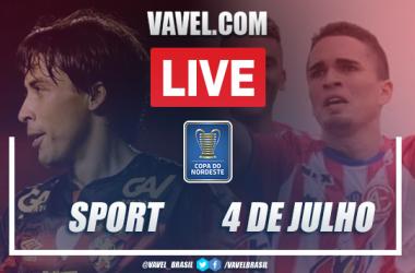 Gols e melhores momentos Sport 1 x 1 4 de julho pela Copa do Nordeste