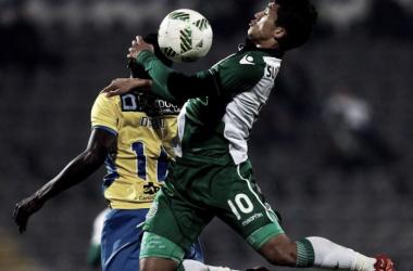 """""""Leões"""" vencem mas ficam pelo caminho na Taça da Liga (foto: maisfutebol/Lusa)"""