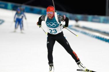 Laura Dahlmeier s'impose pour cette première course des Jeux Olympiques.