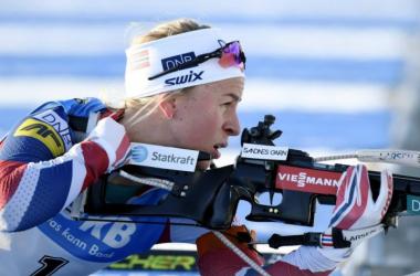 La norvégienne remporte le sprint du côté de l'Italie.