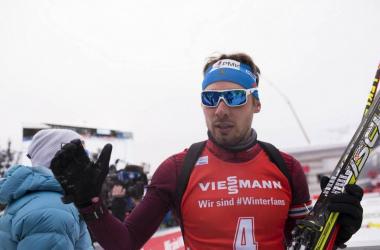 Le grand vainqueur du jour, Anton Shipulin remporte la première victoire de sa saison.