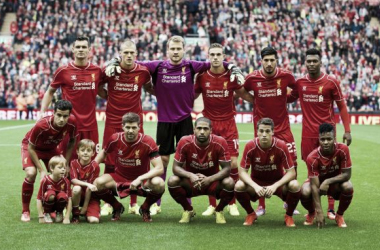 The Liverpool team stands for a picture before a pre season friendly against Borussia Dortmund