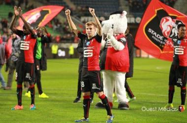 Pedro Henrique celebrates at full time.