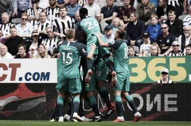 Victoria en la primera jornada para el Tottenham. Fuente: Tottenham