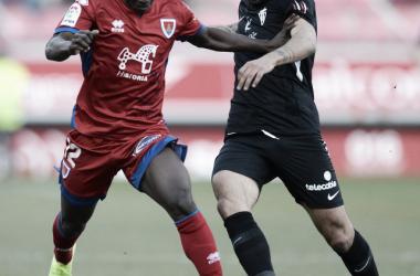 Yaw Yeboah salió en la segunda parte. Imagen: La Liga
