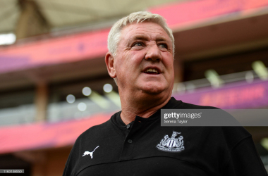 Newcastle United Head Coach Steve Bruce during the Premier League Asia Trophy match between Newcastle United and West Ham United at Hongkou Football Stadium on July 20, 2019 in Shanghai, China. (Photo by Serena Taylor/Newcastle United via Getty Images)