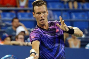 Tomas Berdych was eliminated Thursday in St. Petersburg. Photo: l'Équipe