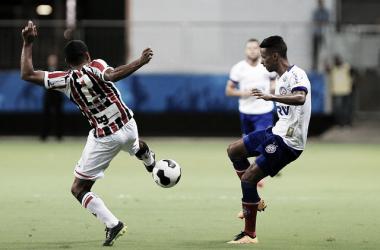 Confronto dos tricolores em 2016, pela Copa do Nordeste. Foto: Felipe Oliveira/EC Bahia