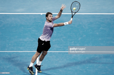 Stan Wawrinka se llevó la victoria ante Nicolás Jarry en Doha. Foto: Getty Images.