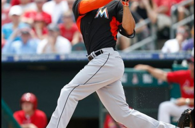 Giancarlo Stanton hit a solo shot Thursday, his second of the spring.