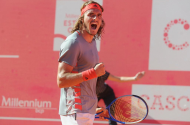 Stefanos Tsitsipas is through to his third final of the season. (Photo by Millennium Estoril Open)